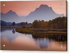 Misty Mountain Evening Acrylic Print by Andrew Soundarajan
