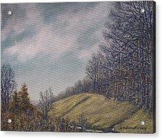 Misty Mountain Valley Acrylic Print by Kathleen McDermott