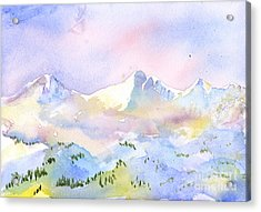 Misty Mountain Acrylic Print