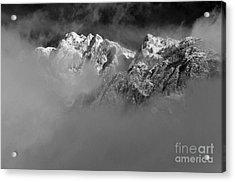 Misty Mountains In Mono Acrylic Print