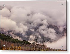 Acrylic Print featuring the photograph Misty Mountains by Wallaroo Images