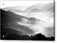 Misty Mountains Acrylic Print