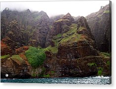 Acrylic Print featuring the photograph Misty Na Pali Coastline by Amy McDaniel