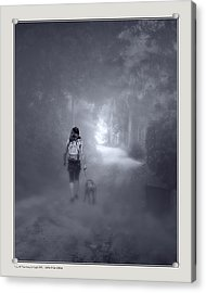 Acrylic Print featuring the photograph Misty Path by Pedro L Gili