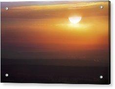 Misty Peaks And Valleys Under The Rising Sun - Mt. Nebo - Arkansas Acrylic Print