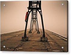 Misty Pier Acrylic Print by Jason Naudi Photography