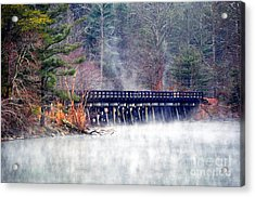 Misty Rails Acrylic Print by Li Newton