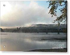 Misty Railway Bridge Acrylic Print