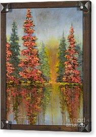 Misty Reflection Acrylic Print by Vic  Mastis