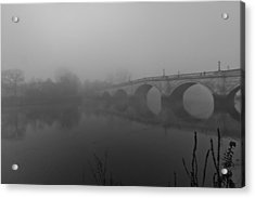 Misty Richmond Bridge Acrylic Print by Maj Seda