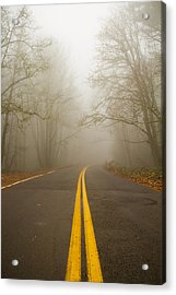 Misty Road Acrylic Print