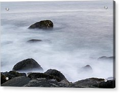 Misty Rocks Acrylic Print