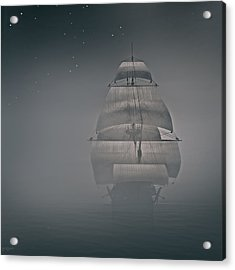Misty Sail Acrylic Print by Lourry Legarde