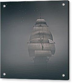 Misty Sail Acrylic Print by Lourry Legarde