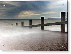Misty Seascape Acrylic Print by Jay Harrison