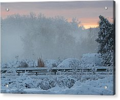 Misty Snow Morning Acrylic Print