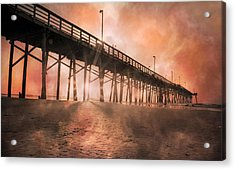 Misty Sunrise Acrylic Print by Betsy Knapp