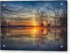 Misty Sunrise Acrylic Print by Dan Holland