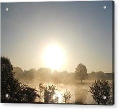 Acrylic Print featuring the photograph Misty Sunrise by Teresa Schomig