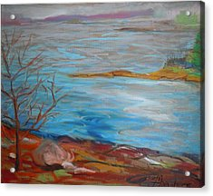 Acrylic Print featuring the painting Misty Surry by Francine Frank