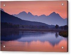 Misty Teton Sunset Acrylic Print
