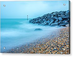 Acrylic Print featuring the photograph Misty Water. by Gary Gillette