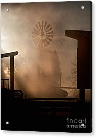 Acrylic Print featuring the photograph Misty Windmill by Steven Reed