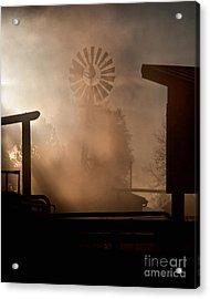 Misty Windmill Acrylic Print by Steven Reed