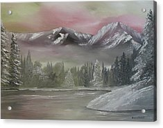 Misty Winter Acrylic Print