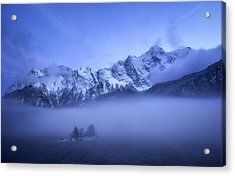 Misty Winter Evening Acrylic Print by Daniel F.