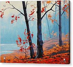Misty Woodland Acrylic Print