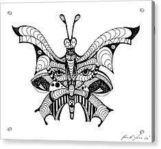 Misunderstood Butterfly Acrylic Print by Kenal Louis