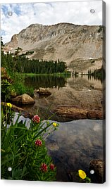 Acrylic Print featuring the photograph Mitchell Lake Reflections by Ronda Kimbrow