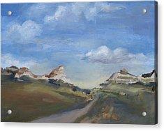Mitchell Pass Western Nebraska Acrylic Print by Leigh Morrison