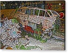 Mitsubishi Betty G4m - 02 Acrylic Print by Gregory Dyer