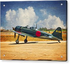 Mitsubishi Zero Fighter Acrylic Print by Steve Benefiel