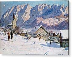 Mitterndorf In Austria Acrylic Print by Gustave Jahn