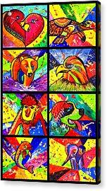Mix Animal Pop Art Acrylic Print