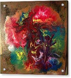 Mixed Media Abstract Post Modern Art By Alfredo Garcia Bizarre Acrylic Print