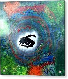 Mixed Media Abstract Post Modern Art By Alfredo Garcia Eye See You Acrylic Print