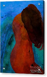 Mixed Media Figure Acrylic Print by David Gordon