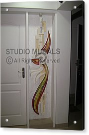 Mixed Media Mural Acrylic Print by Milind Badve