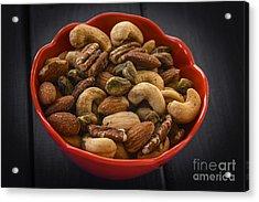 Mixed Nuts Still Life Acrylic Print by Vishwanath Bhat