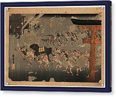 Miya, Ando Between 1833 And 1836, 1 Print  Woodcut Acrylic Print