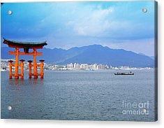 Acrylic Print featuring the photograph Miyajima Torii by Cassandra Buckley