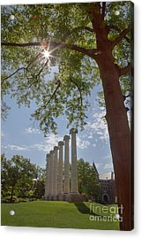 Mizzou Columns Sunflare Acrylic Print by Kay Pickens
