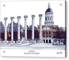 Mizzou - University Of Missouri Acrylic Print