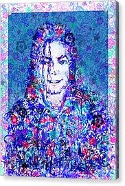 Mj Floral Version 2 Acrylic Print by Bekim Art
