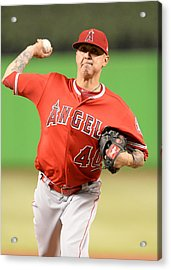Mlb: May 26 Angels At Marlins Acrylic Print by Icon Sportswire