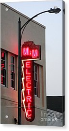 Mm Electric Acrylic Print by Gregory Dyer